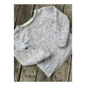 3/$25 Mango Toddler Sweater Scoop Neck Elbow Patch